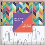 Nail Polish Clutch + Nail Art Sketchpad - Chronicle Books