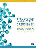 Structured Analytic Techniques for Intelligence Analysis - Richards J. Heuer Jr.