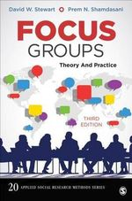Focus Groups : Theory and Practice - David W. Stewart