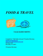 Directory of Food and Travel Talk Radio Shows - Francine Silverman