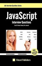 JavaScript Interview Questions You'll Most Likely be Asked - Vibrant Publishers