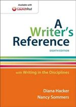 A Writer's Reference with Writing in the Disciplines - University Diana Hacker