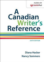 A Canadian Writer's Reference - University Diana Hacker