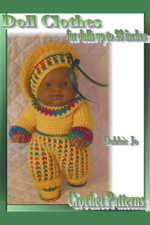Doll Clothes - For Dolls Up To 23 Inches - Crochet Patterns - Debbie Jo