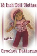 18 Inch Doll Clothes Crochet Patterns - Debbie Jo Loftin