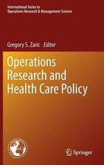 Operations Research and Health Care Policy : A Focus on the Mediterranean Region