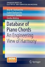 Database of Piano Chords : An Engineering View of Harmony - Ana M. Barbancho