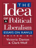The Idea of a Political Liberalism : Essays on Rawls