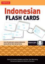 Indonesian Flash Cards : (Downloadable Audio Included) - Zane Goebel