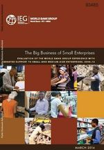 The Big Business of Small Enterprises : Evaluation of the World Bank Group Experience with Targeted Support to Small and Medium-Size Enterprises, 2006-12 - World Bank