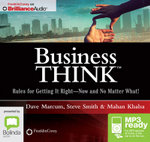 Business Think : Rules For Getting It Right - Now And No Matter What! (Mp3) - Mahan Khalsa