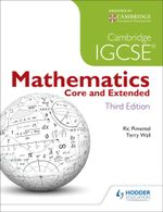 Cambridge IGCSE Mathematics Core and Extended 3ed + CD - Terry Wall