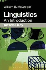 Linguistics : An Introduction Answer Key - William B. McGregor