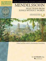 Mendelssohn Felix Selections Frm Songs Wo Words (Gruenberg) Pf Book/Aud