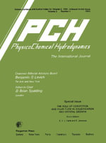 The Role of Convection and Fluid Flow in Solidification and Crystal Growth : Physicochemical Hydrodynamics, Vol. 2.4
