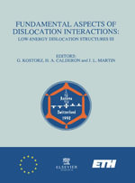 Fundamental Aspects of Dislocation Interactions : Low-Energy Dislocation Structures III