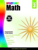 Spectrum Math Workbook, Grade 3 - Spectrum