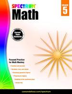 Spectrum Math Workbook, Grade 5 - Spectrum