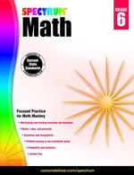 Spectrum Math Workbook, Grade 6 - Spectrum