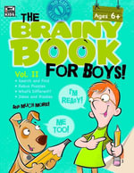 Brainy Book for Boys, Volume 2 Activity Book - Thinking Kids