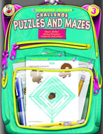 Challenge Puzzles and Mazes, Grade 3 - Frank Schaffer Publications