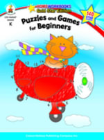Puzzles and Games for Beginners, Grade K - Carson-Dellosa Publishing