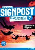 Australian Signpost Mathematics New South Wales 7  : Homework Program - Australian Curriculum - Alan McSeveny