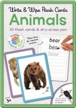 Animals Building Blocks Flashcards in Large Tin : 30 flash cards & dry-erase pen