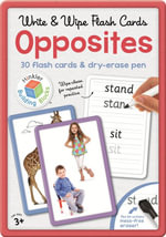 Opposites Building Blocks Flashcards in Large Tin : 30 flash cards & dry-erase pen