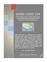 WORD JUDGE USA : The Complete American English Word List for Popular Word Games Approved by WGPO (Word Game Players Organization) - Maliha Mendoza Mahmood