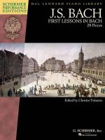 Schirmer Performance Editions Bach First Lessons in Bach Pf Bk