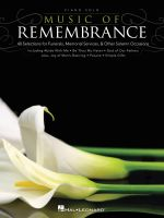 Music of Remembrance Piano Solo Songbook Pf Bk - Hal Leonard Publishing Corporation