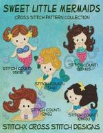 Sweet Little Mermaids Cross Stitch Pattern Collection - Tracy Warrington