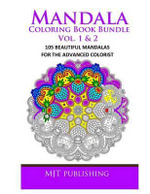 Mandala Coloring Book Bundle Vol. 1 & 2 : 105 Advanced Mandala Patterns - Mjt Publishing