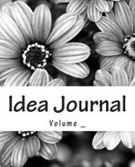 Idea Journal : Black and White Flower Cover - S M