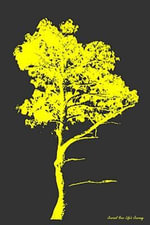 Journal Your Life's Journey : Yellow Grunge Tree Journal, Lined Journal, 6 X 9, 100 Pages - Journal Your Life's Journey