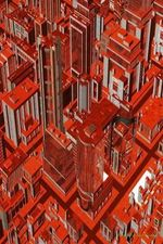Journal Your Life's Journey : Futuristic Red City, Lined Journal, 6 X 9, 100 Pages - Journal Your Life's Journey
