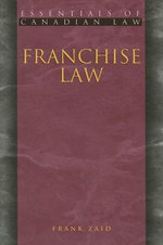 Franchise Law : Creative License and Collaboration in the Culture ... - Frank Zaid