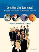 Does This Line Ever Move? : Everyday Applications of Operations Research - Kenneth R. Chelst