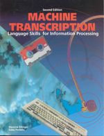 Machine Transcription : Language Skills for Information Processing - Blanche Ettinger
