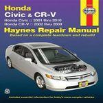 Honda Civic & CRV Automotive Repair Manual : 01-10 - Robert Maddox