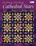 Machine-Stitched Cathedral Stars 