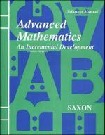 Saxon Advanced Math : Solutions Manual Second Edition 1997 - Saxon