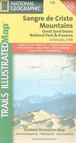 Sangre De Cristo Mountains, Great Sand Dunes National Park : Trails Illustrated - National Geographic Maps