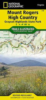 Mount Rogers High Country : Trails Illustrated Other Rec. Areas - National Geographic Maps