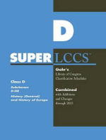 SUPERLCCS 13 : Schedule D-Dr