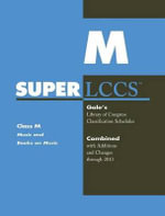 SUPERLCCS 13 : Schedule M Music& Books on Music