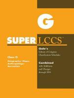 SUPERLCCS 14 Schedule G : Geog Maps Anthropology Rec