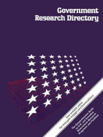 Government Research Directory : 3 Volume Set