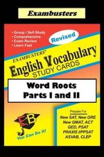 Exambusters English Vocabulary Study Cards : Word Roots Parts I and II - Ace Academics